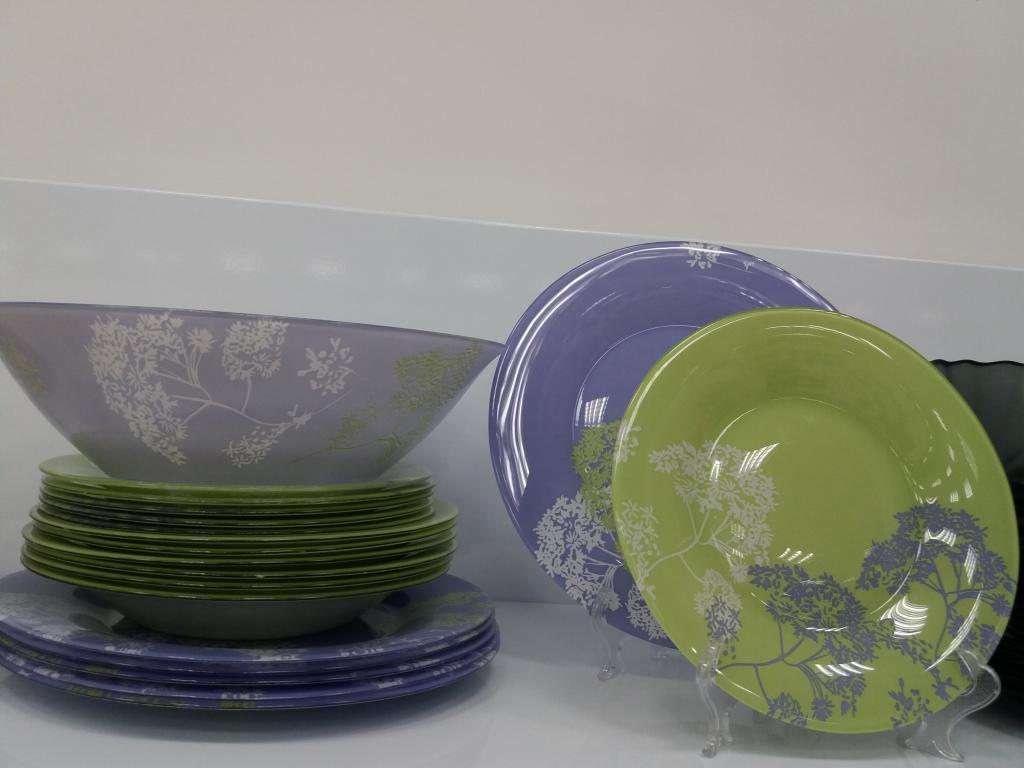 Lum.Purple mix&mat. Сервиз стол.19 пр.