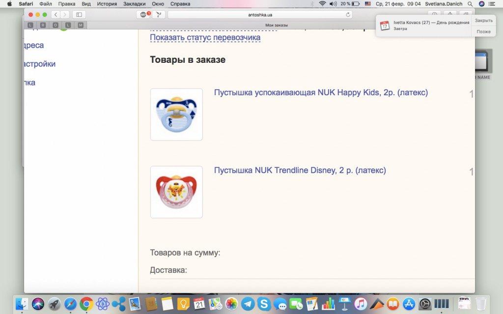 Антошка Детский магазин - Пустышки NUK