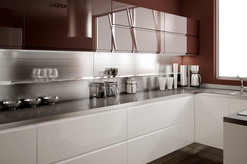 кухня под заказ с крашеным фасадом и фурнитурой БЛЮМ - Интернет-магазин мебели Експертмебели