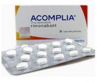 Акомплия (Римонабант) таблетки для похудения