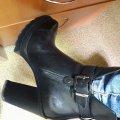 Отзыв о Miraton Fashion Market: Осенние кожаные ботинки на высоком каблуке и тракторной подошве