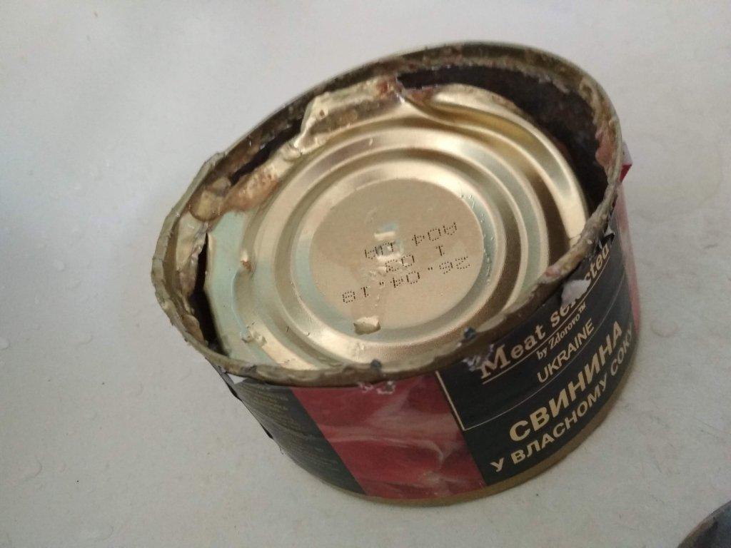 Консервы ТМ Здорово - Пытался красиво открыть свинину,дальше слов нету,одни фотографии.