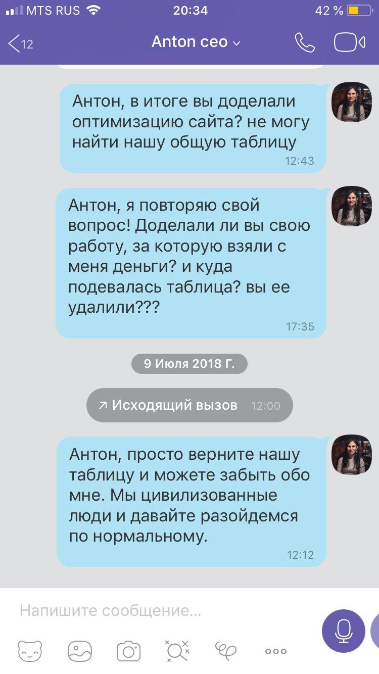 Частный SEO оптимизатор Anton Cherevashko -