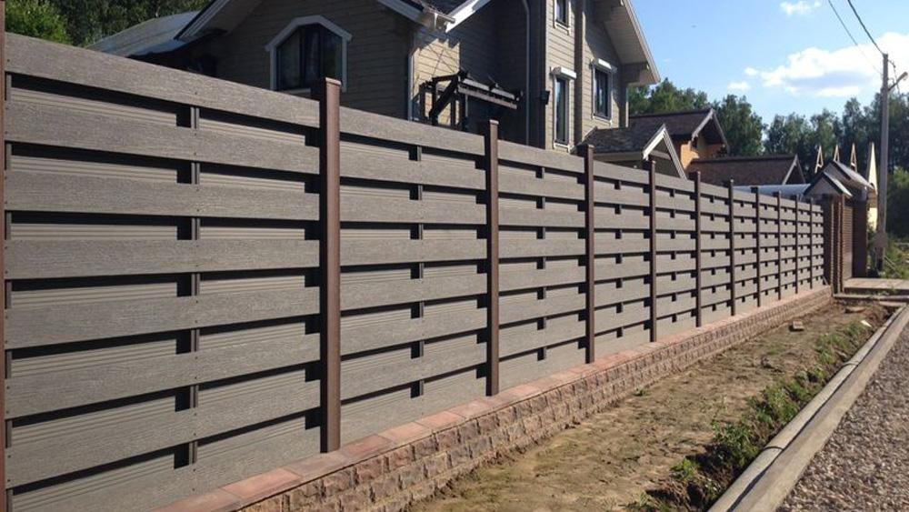 Компания Альфа-Забор - Забор из композитного дерева