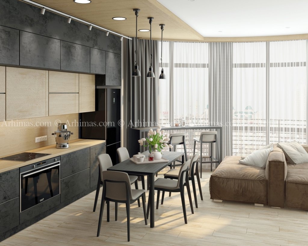 Архитектурная мастерская Архимас - 2-х комнатная квартира в Жилом Комплексе