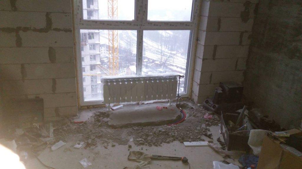 Intol.net Ремонт квартир в Киеве - Фото работы по замене радиаторов