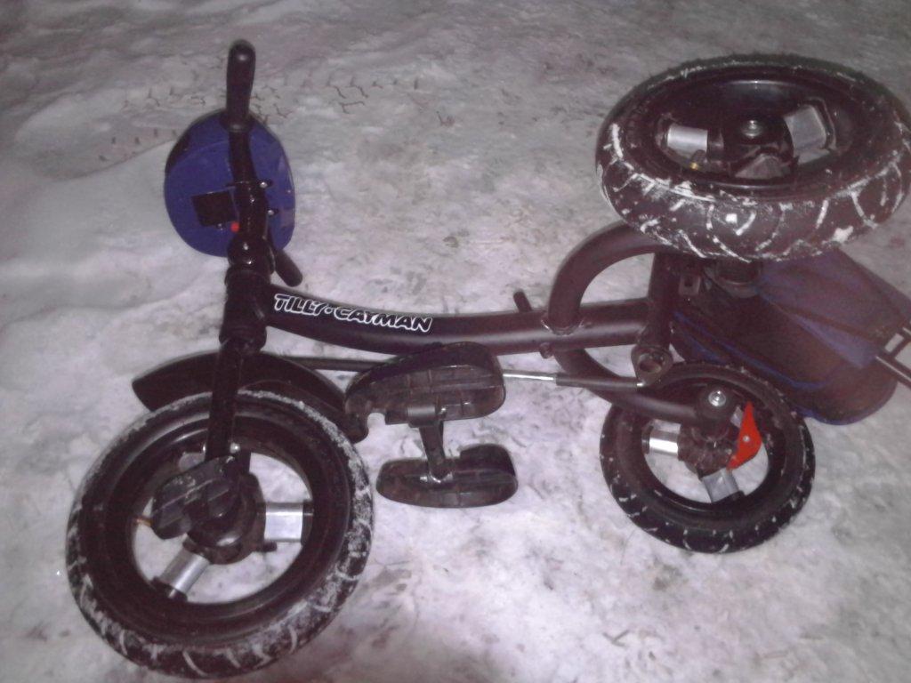Трехколесный велосипед Tilly Cayman - Tilly Cayman з пультом та посиленою рамою. Тканина Льон.
