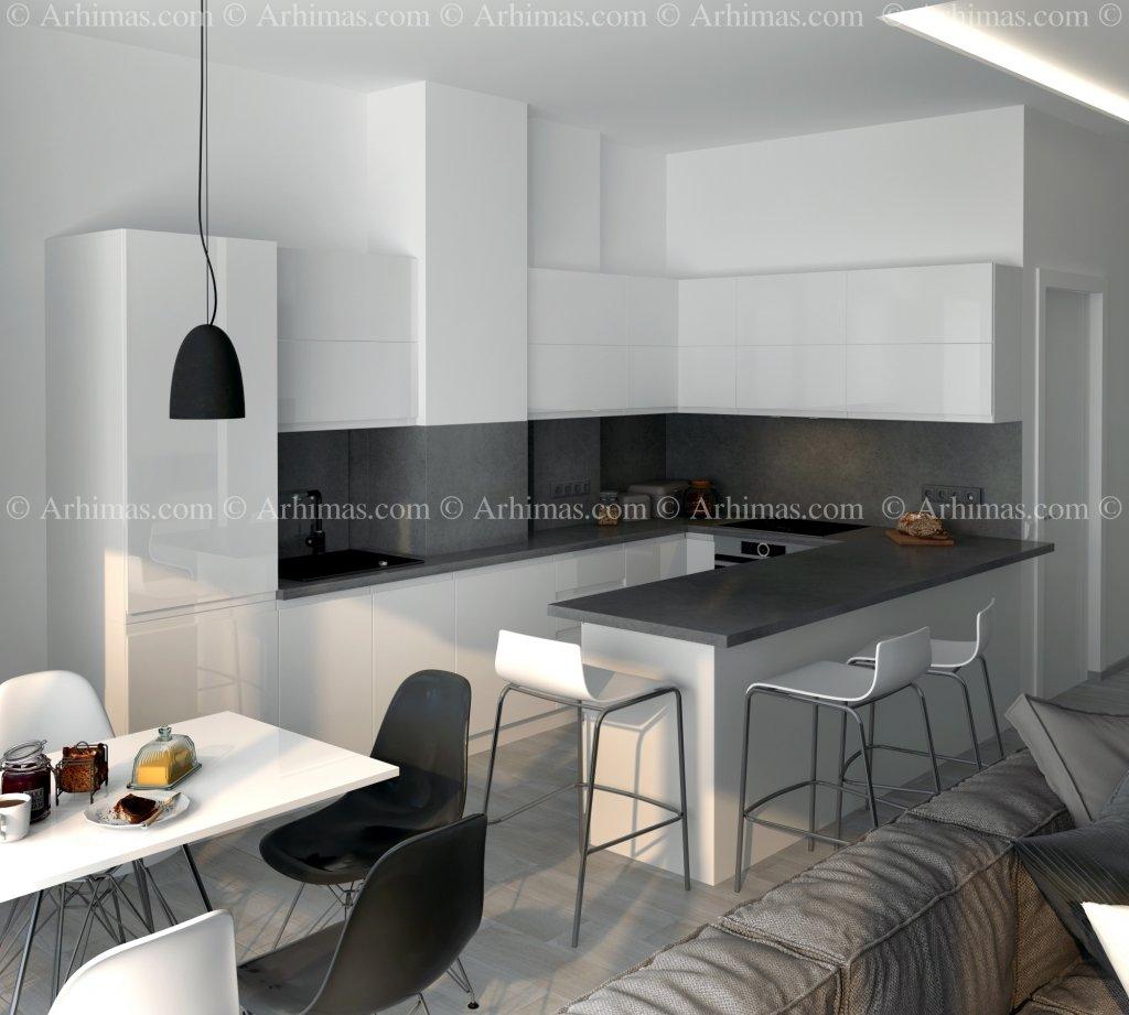 Архитектурная мастерская Архимас - Квартира в жилом комплексе 27-я Жемчужина