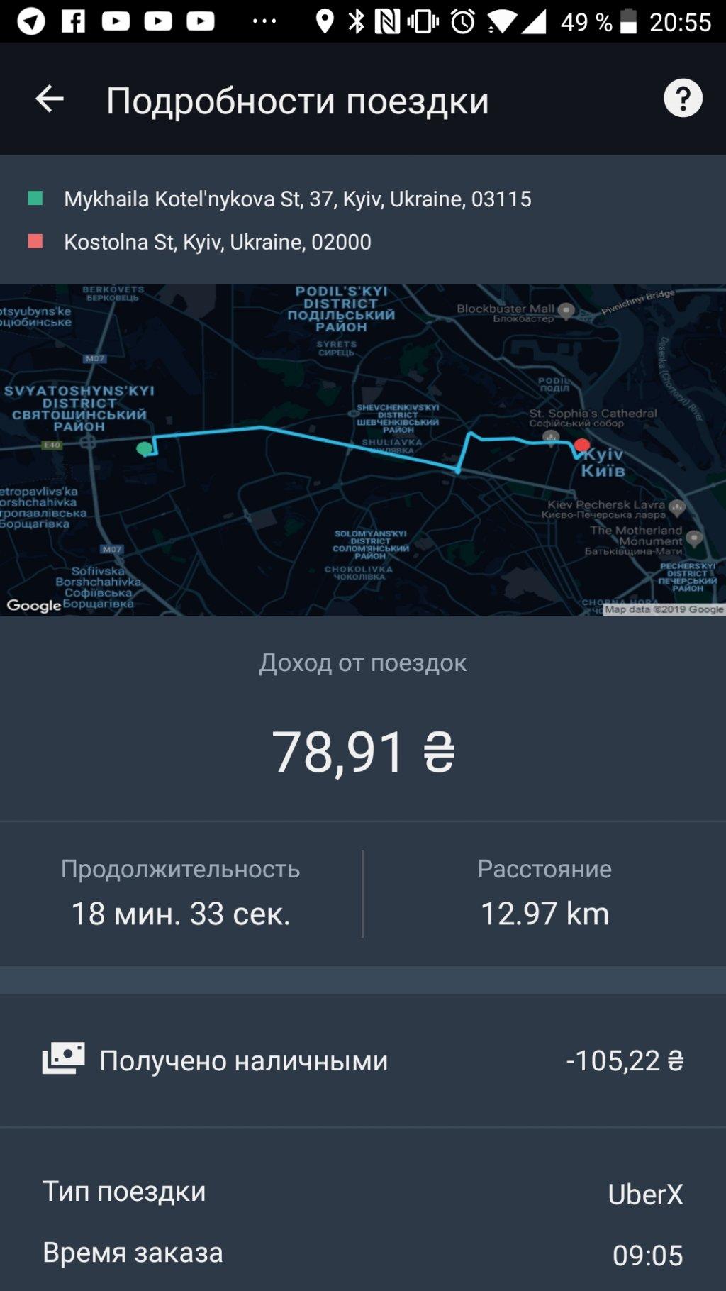 Uber - Нечего не заработаешь