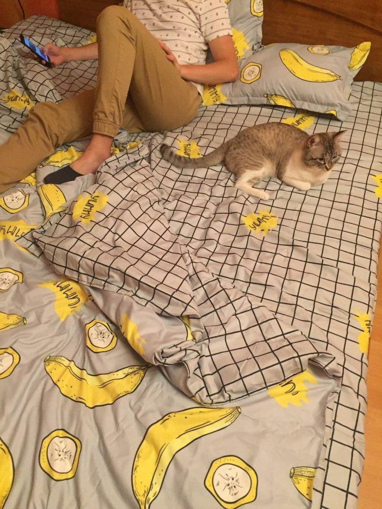 Интернет-магазин Berni - Комплект постельного белья Бананы (двуспальный-евро) Berni