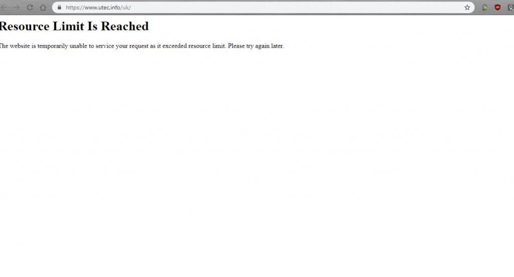 UTEC Express - сайти відключили..