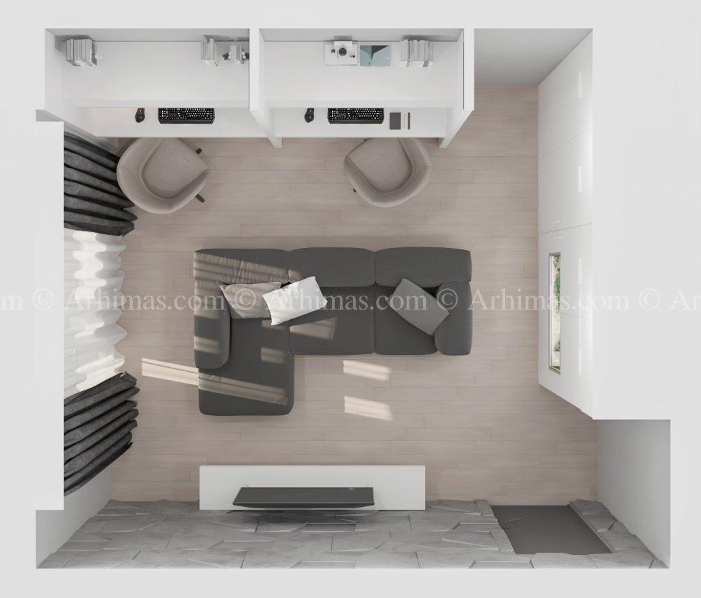 Архитектурная мастерская Архимас - Сочетание открытой планировки