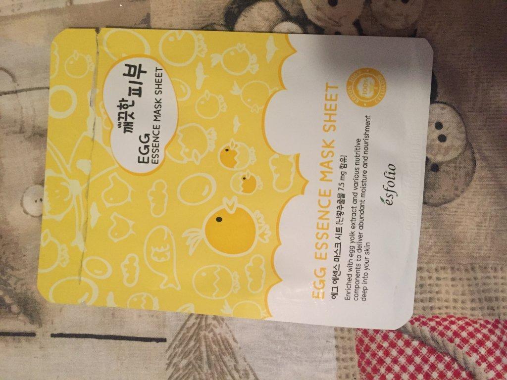 маска для лица корейская яичная - Маска для лица Egg essence mask sheet Корея