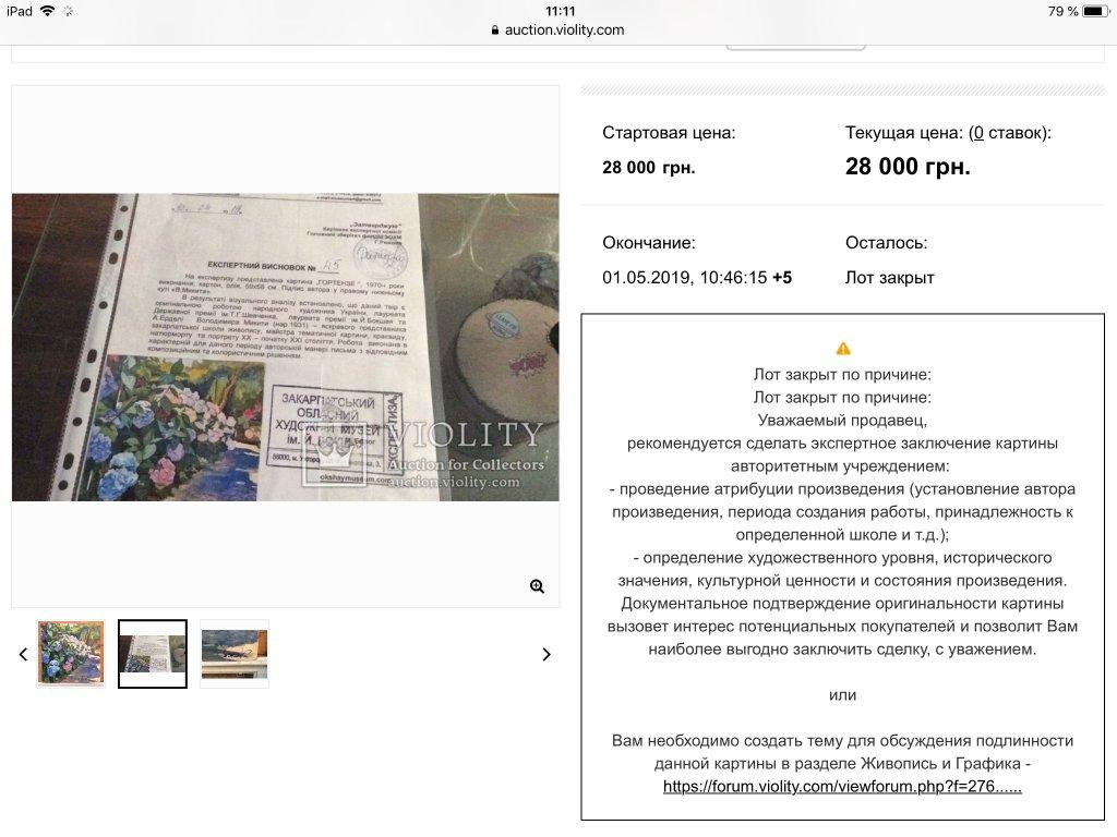 Аукцион Violity - Очередной конфуз модератора ))