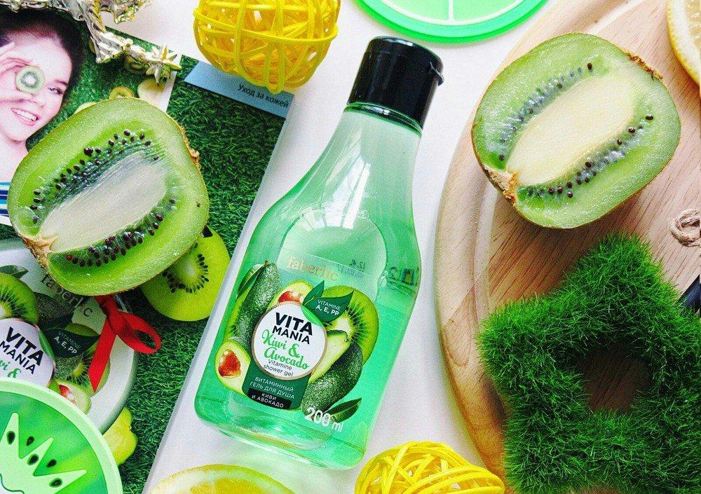 Витаминный гель для душа Киви и авокадо Фаберлик - Занялись фруктами на лето