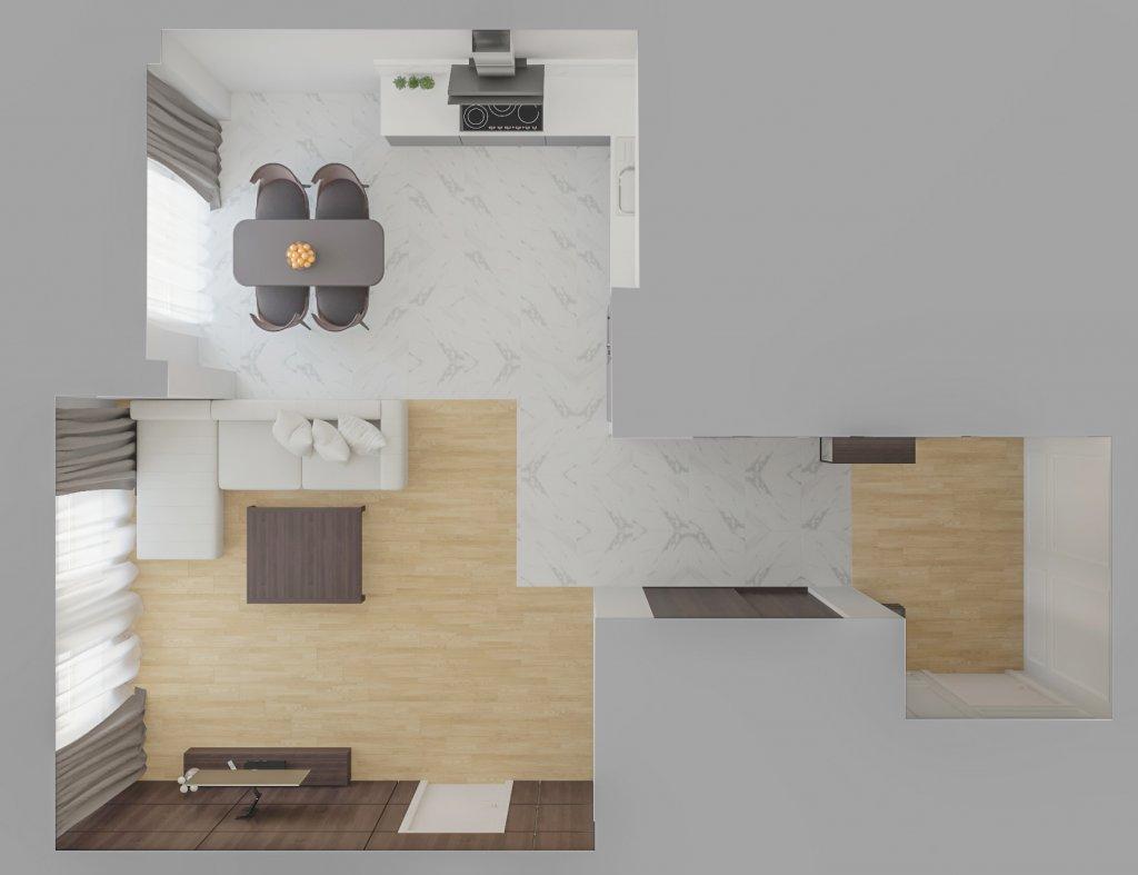 Архитектурная мастерская Архимас - Светлый интерьер современный стиль
