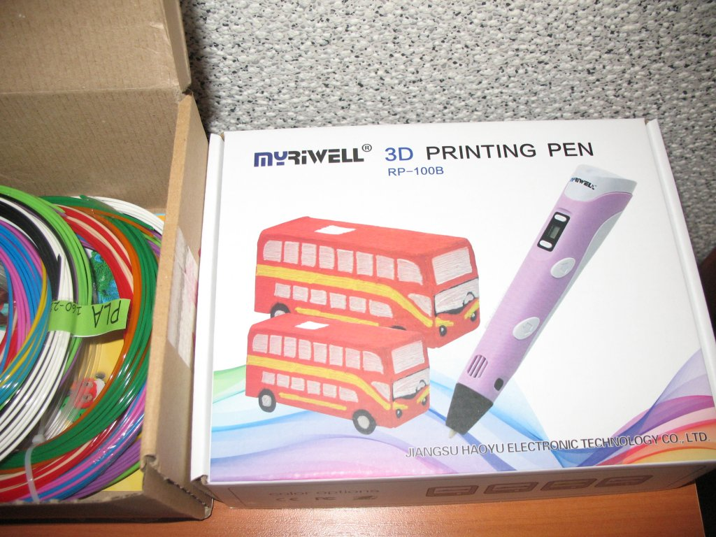 3dpens.com.ua интернет-магазин - 3D-ручка MyRiwell 2 RP100B Фиолетовая