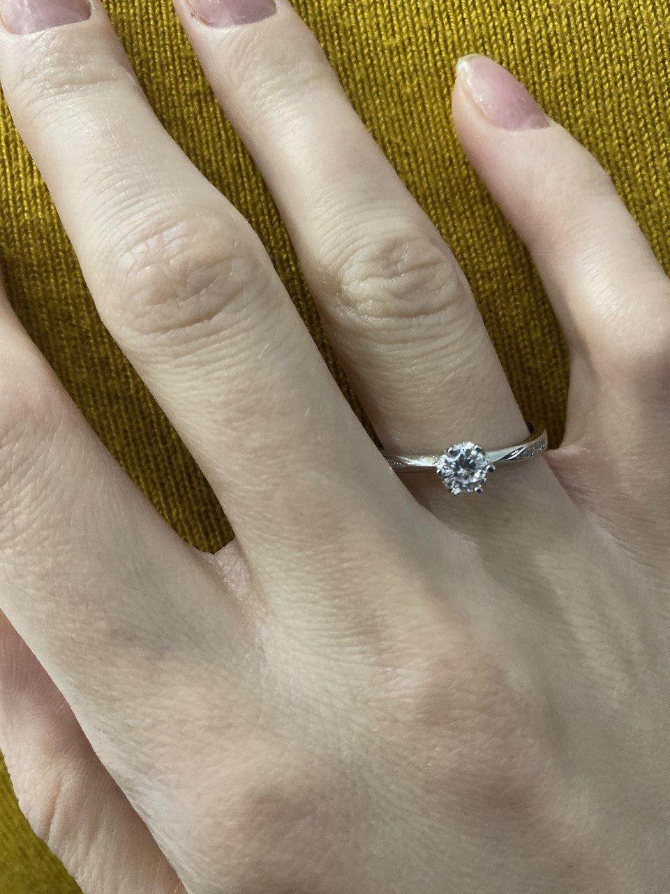 Minimal Silver - Парень сделал предложение, очень довольна кольцом