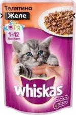 Влажный корм Whiskas для котят желе с телятиной отзывы