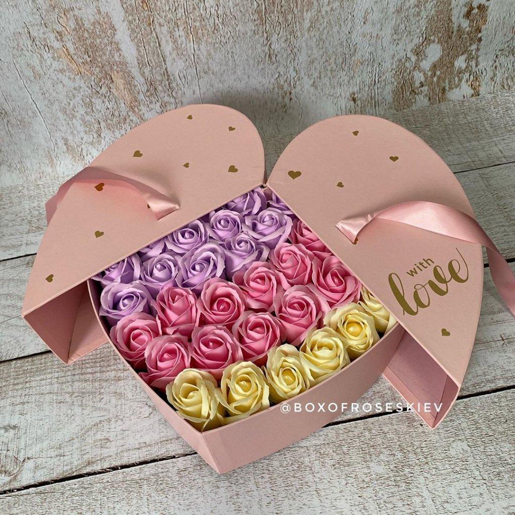 Букеты из мыльных роз Box of Roses