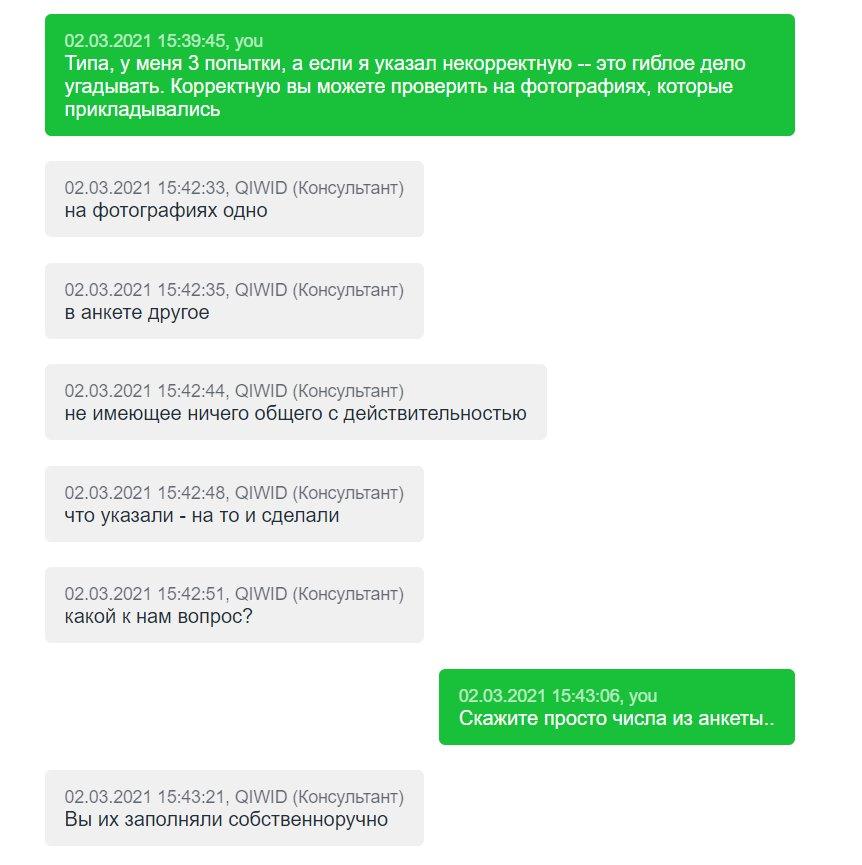 Qiwid.com - Неадекватный саппорт